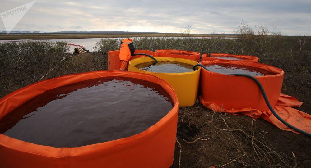 La cause probable de l'importante fuite de diesel en Sibérie annoncée par le parquet