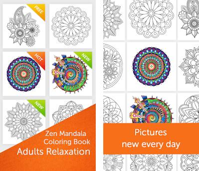 Zen Mandala Coloring Book Preview Screenshot