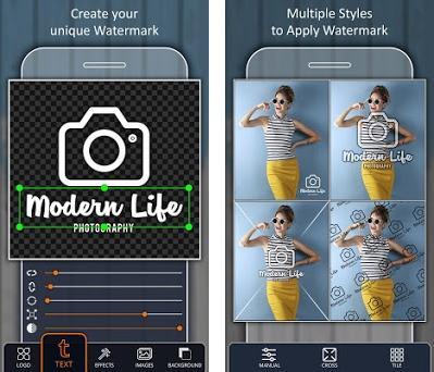 Agregar marca de agua en las fotos Capturas de pantalla