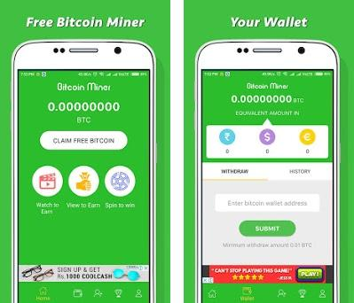 Free Bitcoin Miner - Earn Money on Windows PC Download Free - 1 1