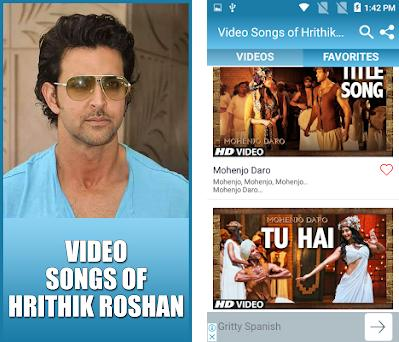 Video Songs of Hrithik Roshan 5 3 9 apk download for Android