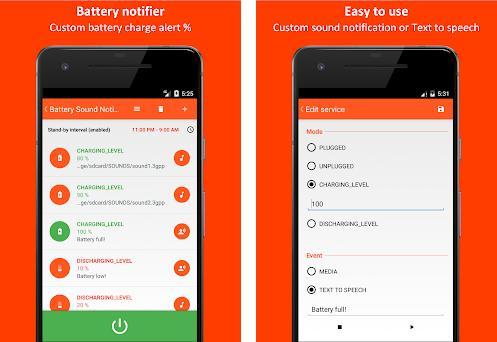 Battery Sound Notification Capturas de pantalla