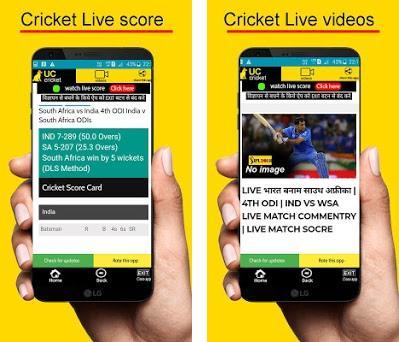 UC-cricket news ,videos, live score,commentary,ipl on Windows PC