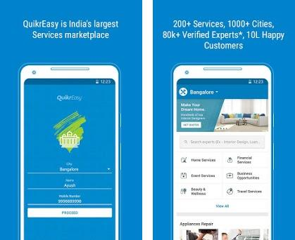 QuikrEasy - Home/Financial/Beauty Services & more 4 0 apk