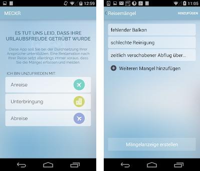 app preview - Mangelanzeige Muster