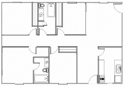 Floor Plans of Summit Park Apartments in Memphis, TN