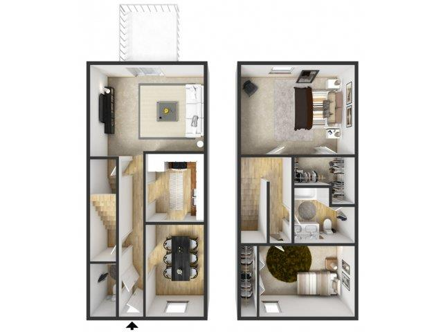 Floor Plans Of Windridge Apartments In Grand Rapids, MI