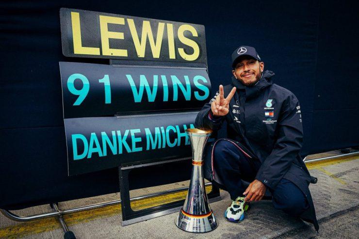 Lewis Hamilton, Mercedes, 91 vitórias, GP de Eifel 2020,