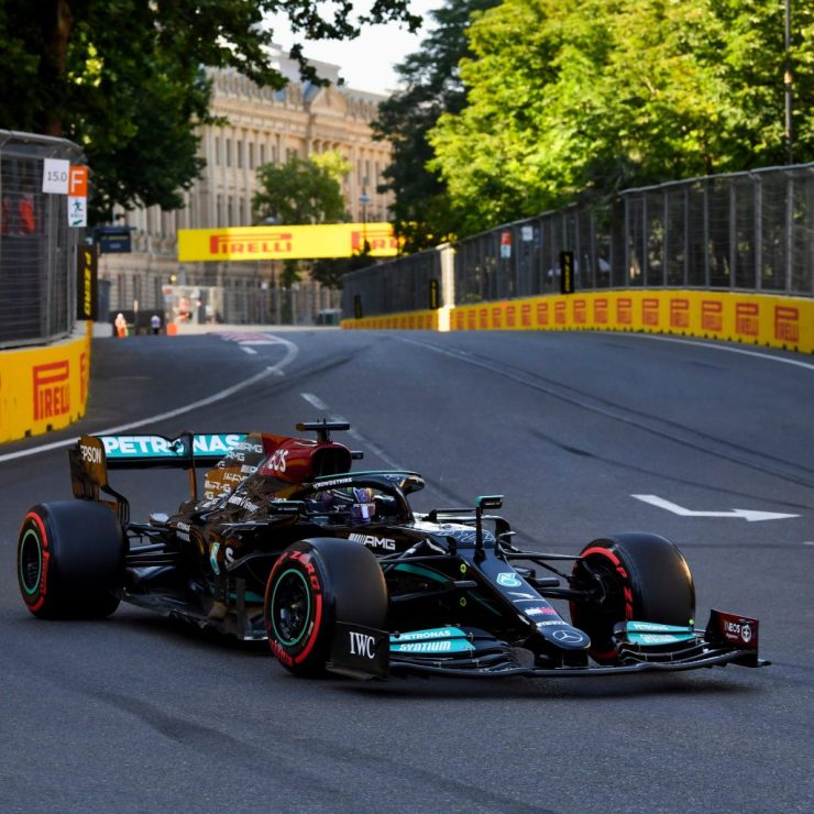 A Mercedes mudou tudo no carro para sábado, e Hamilton esteve em um ótimo dia (Crédito: Twitter / MercedesAMGF1)