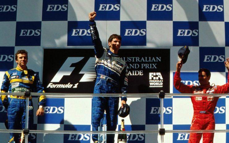 PÓDIO; GP DA AUSTRÁLIA 1995;