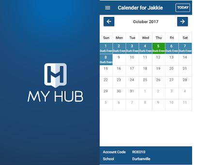 In the centre : Myhub