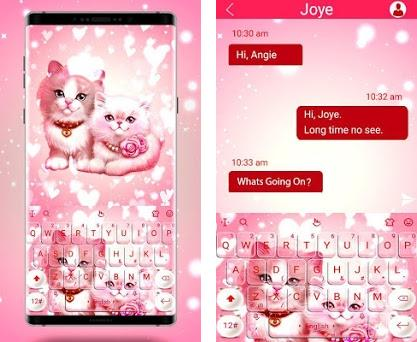 Cute Pink Lovely Kitty Cat Keyboard Theme 6 6 21 2019 apk download