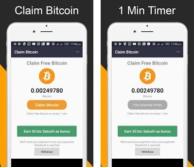 Claim Bitcoin - Earn free bitcoin on every 2 min 1 0 8 apk download