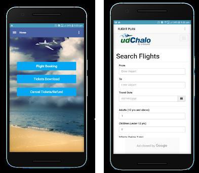 udchalo flight search