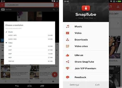 SnapTube| APP12 apk download for Android • com STa App Tree