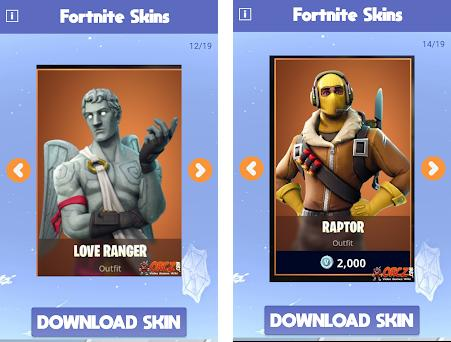 about this app on this page you can download fortnite skins free - 2 skins gratis fortnite