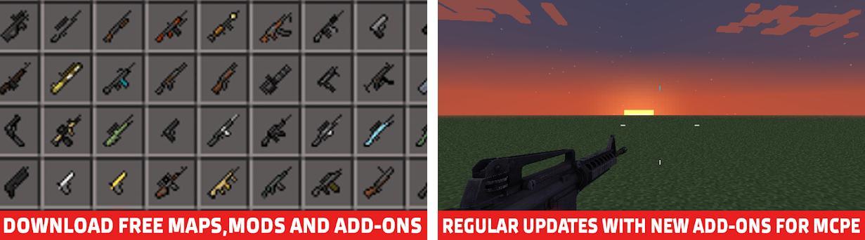gun mod for minecraft pe download