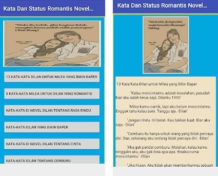 Status Romantis Novel Dilan Milea 1990 1991 1 0 Apk Download