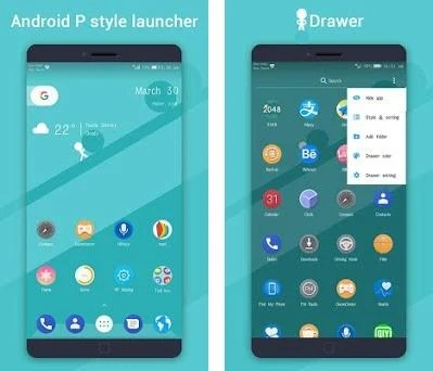 PP Launcher 🏆,Pi Pie Launcher, Android 9 0 P mode 2 7 apk download