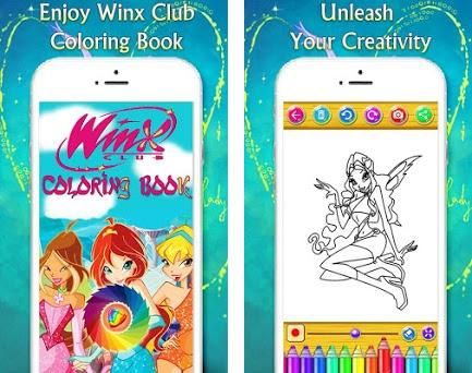 Coloring Book For Winx Queens Magical Fairies Preview Screenshot