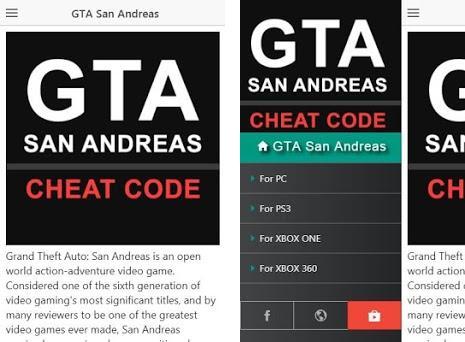 Cheat Code for GTA San Andreas Games | GTA Cheats 1 2 3 apk download