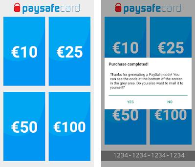 PaySafe Card Instant - Buy and Receive a code PTS apk download for