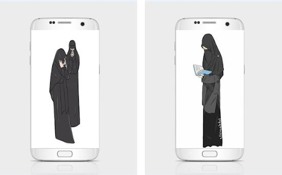 67 Gambar Kartun Muslimah Cadar HD Terbaik