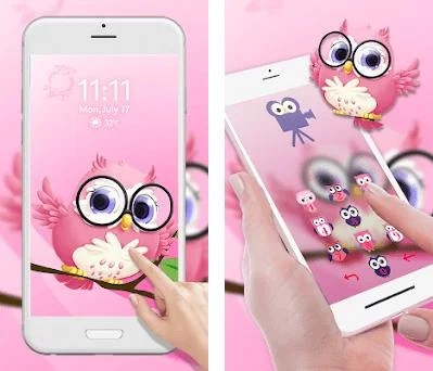 Pink Anime Cute Owl 3D Live Lock Screen Wallpapers 1 0 apk