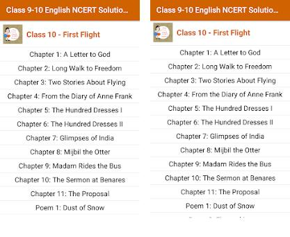 Class 9-10 English NCERT Solution 2 0 apk download for Android • com