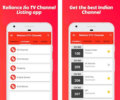 Channel List for Jio TV & Reliance Digital TV 1 0 5 apk