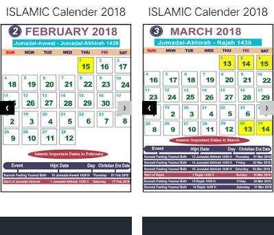 Islamic Calendar 2018 1 0 apk download for Android • com