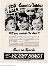 """""""Make no mistake if the Axis should win this war your children will be doomed to a life of slavery and moral degradation."""" Won't somebody please think of the children?! One of the more hyperbolic posters."""