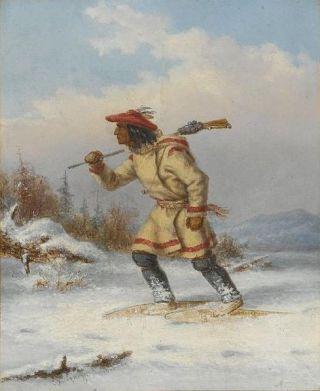 Following the Moose (c. 1860)