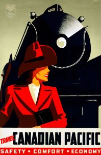Where in the world is Carmen Sandiego? Apparently she's on a Canadian Pacific train.