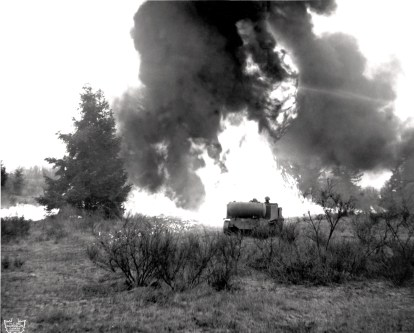 A flamethrower participates in an attack. (Picture from Canada's Dept of national Defense).