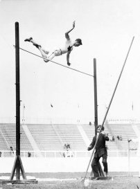 At the 1908 London Games, Ed Archibald competed in the pole vault competition. He was part of a three-way tie for bronze, along with Clare Jacobs (US) and Bruno Söderström (Sweden).