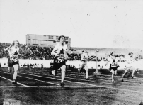 As you can see Canada had a great year at the 1928 Amsterdam Games. Ethel Smith (left) and Fanny Rosenfeld (second from left) raced in the women's 100m semi-finals. Rosenfeld got silver, Smith got bronze. Those two were also part of the winning 4 × 100 m relay team, along with Myrtle Cook and Jane Bell.