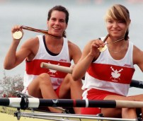 Kathleen Heddle and Marnie McBean won gold in Women's Double Sculls at the 1996 Atlanta Games.