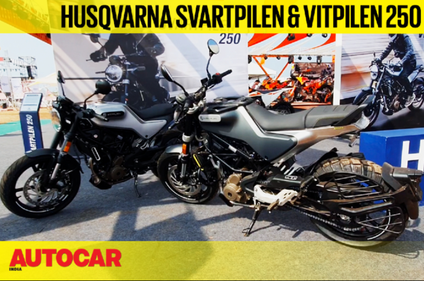 husqvarna svartpilen 250 and vitpilen 250 first look
