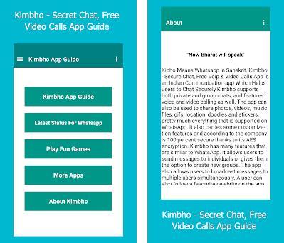 Kimbho - Secret Chat, Free Video Calls App Guide 1 5 apk