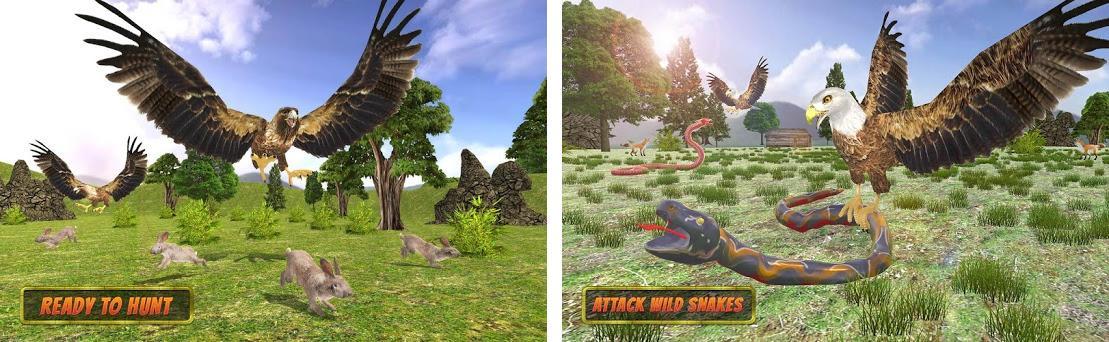 Eagle-Simulators 3D Bird Game Capturas de pantalla