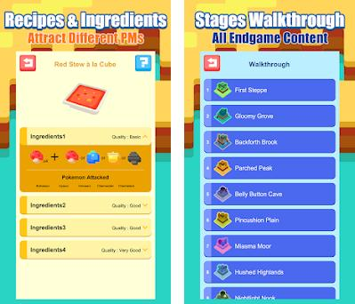 Recipes Guide for Pokemon Quest 1 1 apk download for Android • com