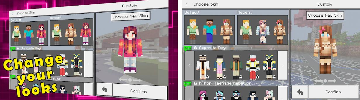 Сute Girl Skins For MCPE Skins Apk Download For Android Com - Skins para minecraft pe kpop