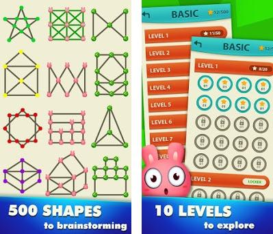 1 Line - Draw 1 Stroke By One Touch - Shape Games Capturas de pantalla
