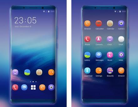 Theme for abstract blue scenery xiaomi8 2 0 1 apk download