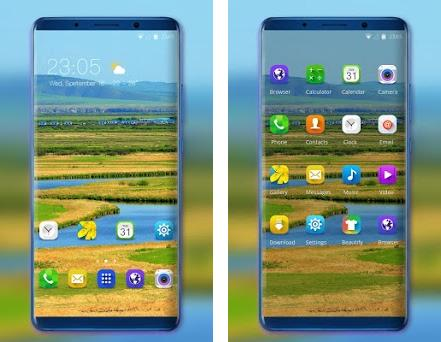 Theme for Samsung Galaxy S9 sunest village 2 0 1 apk download for