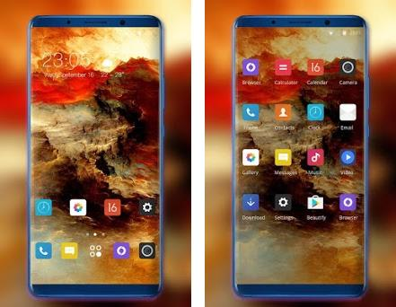 Theme for Samsung Galaxy A7 plus fire water 2 0 1 apk