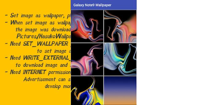Wallpapers for Galaxy Note9 & Note8 1 1 apk download for