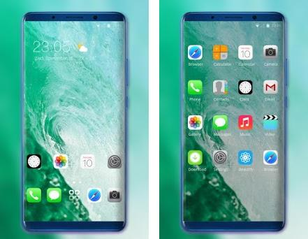 Theme for IOS 13 - Phone XS water wave wallpaper 2 0 1 apk