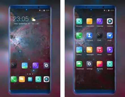 Theme for Vivo V11 Space galaxy ios max wallpaper 2 0 1 apk